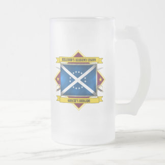 Hilliard's Alabama Legion Frosted Glass Beer Mug