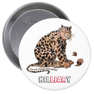 HILliarY 4 Inch Round Button