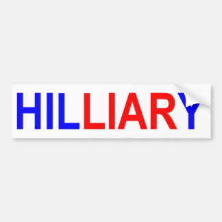 HILLIARY Bumper Sticker