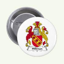 Hillman Family Crest Button