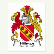 Hillman Family Crest Postcard