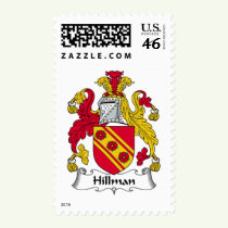 Hillman Family Crest Stamps