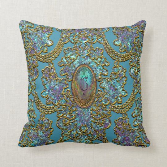 Hillmanshire Monogram Victorian Throw Pillow
