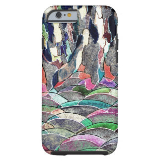 Hills and Mountains Abstract Watercolor Tough iPhone 6 Case