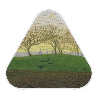 Hills and Ploughed Fields near Dresden Bluetooth Speaker