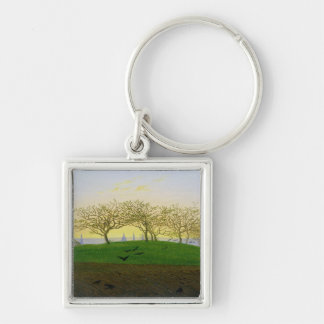 Hills and Ploughed Fields near Dresden Keychain