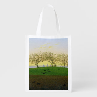 Hills and Ploughed Fields near Dresden Reusable Grocery Bag