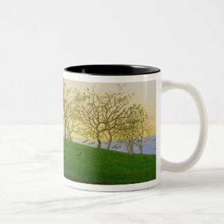 Hills and Ploughed Fields near Dresden Two-Tone Coffee Mug