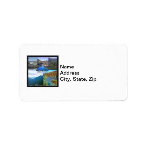 Hills and Rivers of the Ozarks Address Label