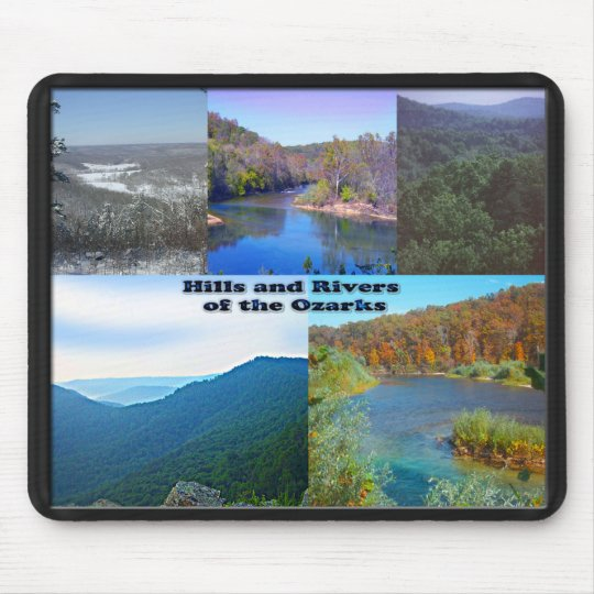 Hills and Rivers of the Ozarks Mouse Pad