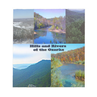 Hills and Rivers of the Ozarks Notepad