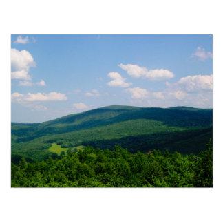 Hills and Shadows Summer Photography Postcard