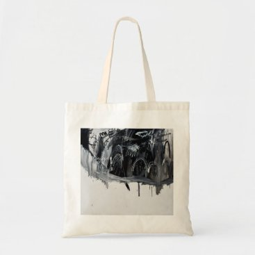 Halloween Themed Hills and Trees (B&W) by Johnny Tote Bag