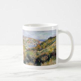 Hills around the Bay of Moulin Huet - Renoir Coffee Mug