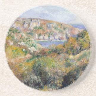 Hills around the Bay of Moulin Huet - Renoir Drink Coaster