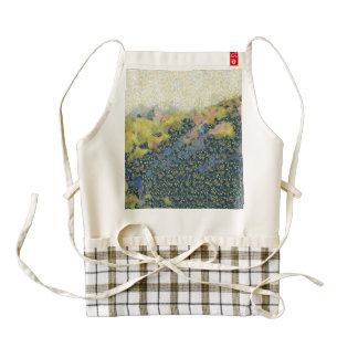 Hills covered with snow zazzle HEART apron