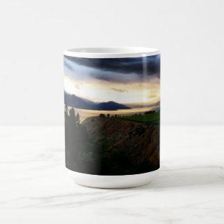 Hills Dark Blue Clouds Coffee Mug