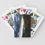 Hills Dark Blue Clouds Playing Cards