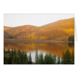 hills in the water stationery note card