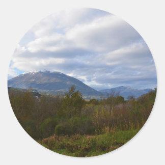 Hills Near Santa Domenica Talao Classic Round Sticker