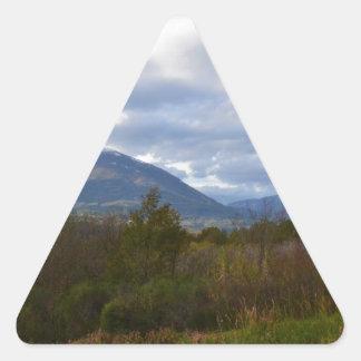 Hills Near Santa Domenica Talao Triangle Sticker