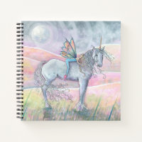 Hills of Enchantment Unicorn Fairy Sketchbook Notebook