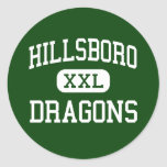 Hillsboro - Dragons - Junior - Hillsboro Illinois Classic Round Sticker