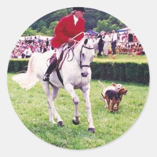 hillsboro hounds classic round sticker