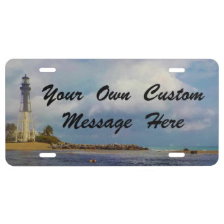Hillsboro Inlet Light Custom Message License Plate