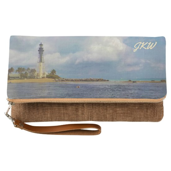 Hillsboro Inlet Light Monogrammed Clutch