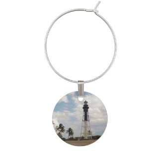 Hillsboro Inlet Light Tower Wine Glass Charm
