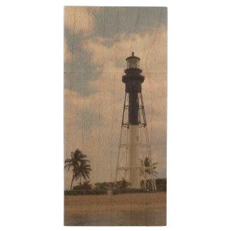 Hillsboro Inlet Light Tower Wood Flash Drive