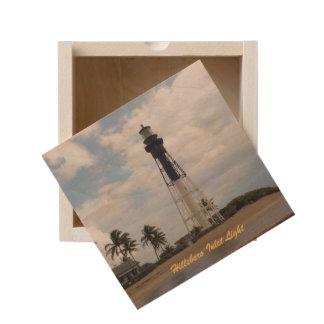 Hillsboro Inlet Light Tower Wooden Keepsake Box