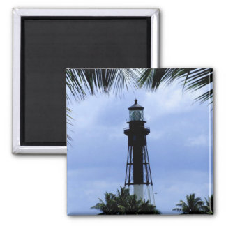 Hillsboro Inlet Lighthouse 2 Inch Square Magnet