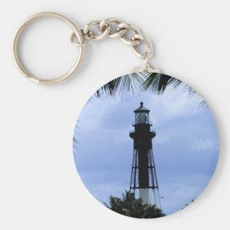 Hillsboro Inlet Lighthouse Basic Round Button Keychain