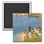 Hillsboro Lighthouse 2 Inch Square Magnet