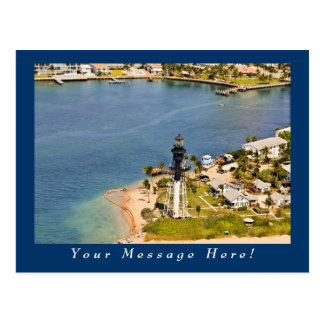 Hillsboro Lighthouse Aerial Postcard
