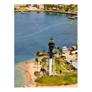 Hillsboro Lighthouse Aerial Postcard