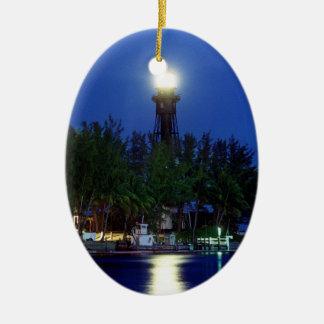 Hillsboro Lighthouse Ceramic Ornament
