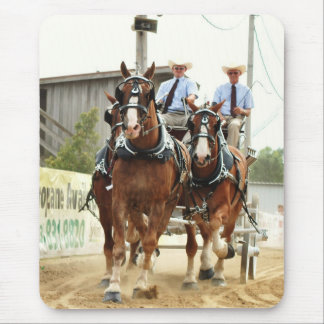 hillsboro ohio draft horse show in 2010 mouse pad
