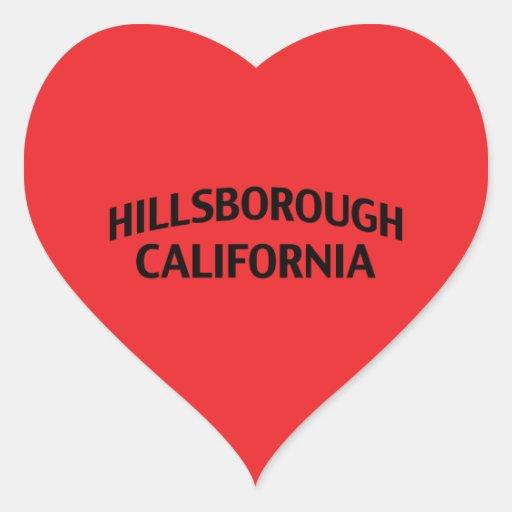 Hillsborough California Heart Sticker