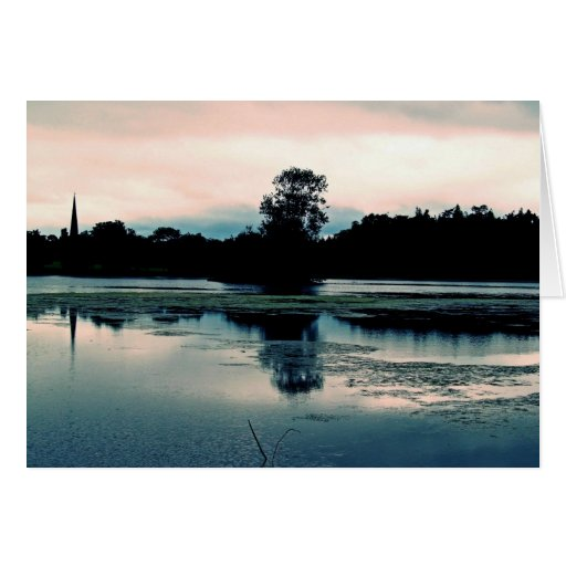 Hillsborough Lake Reflection Card