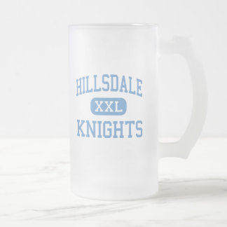 Hillsdale - Knights - High - San Mateo California Frosted Glass Beer Mug