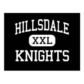 Hillsdale - Knights - High - San Mateo California Postcard
