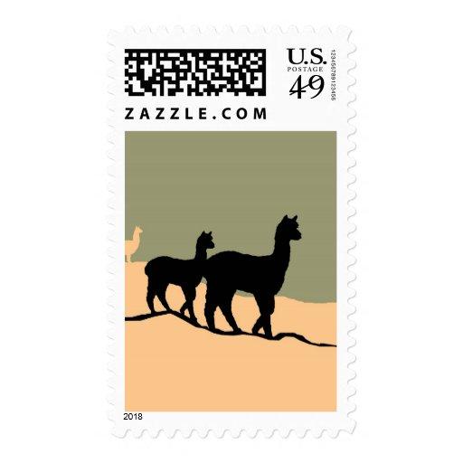 Hillside Alpacas Postage Stamps