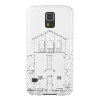 Hillside Cottage Elevation Drawing Galaxy S5 Cases