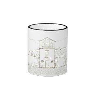 Hillside Cottage Elevation Drawing Mug