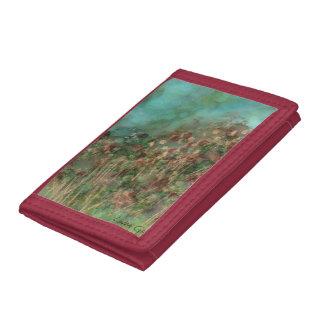 Hillside Flowers Red Wallet