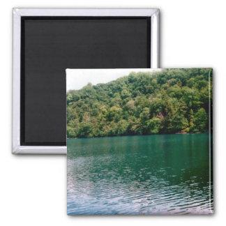 Hillside Lake 2 Inch Square Magnet