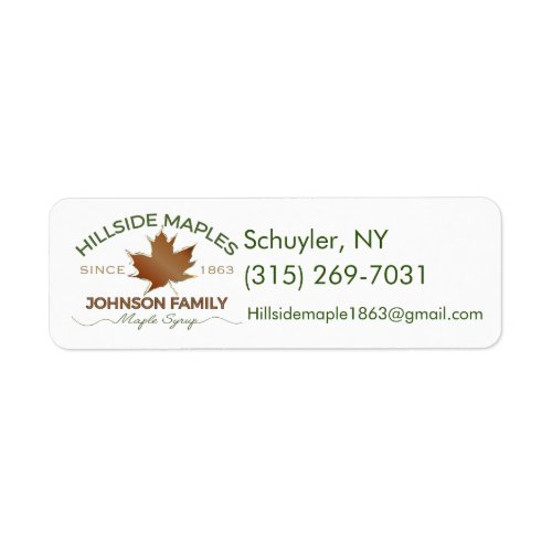 Hillside Maple Stickers